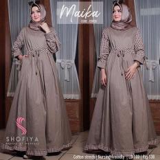 Baju Wanita Baju Hijab Baju Gamis Baju Muslimah Maika Dress [coklat susu]