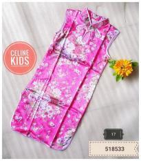 Jual Baju Imlek Dress Cheongsam Anak Murah Warna Pink Multi Online