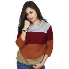Baju Import Rajut Wanita Cewek  Warna Orange Komb RZM 090 RZ