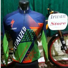 Baju Jersey Sepeda Specialized Hijau Lengan Panjang