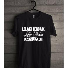 Harga Baju Kaos Bulan Lahir Baju Kaos Lahir Bulan Baju Kaos Bulan Januari T Shirt Pria Wanita Baju Kaos Hitam Fullset Murah