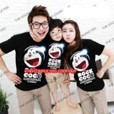 Baju Kaos Couple Family Doraemon Hitam(Ayah/Ibu/Anak) - Ba5t2p