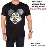 Jual Baju Kaos Distro Vintage Black Mickey Mouse Glow In The Dark Online Indonesia