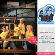 Baju / Kaos / Keluarga / Family /Sarimbit / Couple / Muslim 3 Kaos - 2Zcros