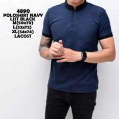 Promo Baju Kaos Polo Pria Black Mix Navy Distro Universal
