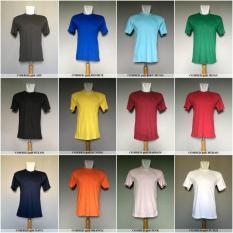 Baju Kaos Polos Cotton Combed 30S Murah Hitam Putih Biru Merah Dll - A95dd6