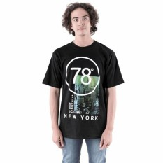 Baju Kaos Tshirt Distro Pria Cowok New York Warna Hitam GSHOP AMD 0700