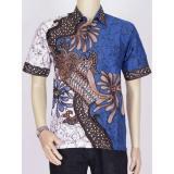 Diskon Baju Kemeja Batik Modern Pria Khas Pekalongan Biru Batik Jawa Barat