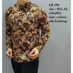 Baju Kemeja Batik Pria Modern Slim fit lengan panjang LB-47