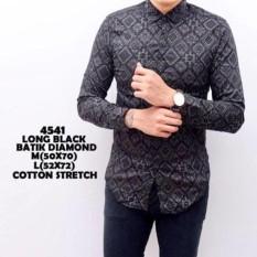 Baju Kemeja Batik Songket Diamond Panjang kerja Kantor/Pesta Slimfit Batik Cowok / KEMEJA KEKINIAN/TERLARIS