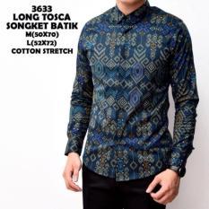 Spek Baju Kemeja Batik Songket Zaman Now Panjang Kerja Kantor Slimfit Batik Cowok Premium Terlaris Indonesia