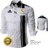 Review Baju Kemeja Bola Real Madrid Type B1 Putih Strip Hitam Indonesia