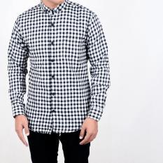 Harga Baju Kemeja Flanel Pria Kemeja Lengan Panjang Fullset Murah