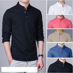 Spesifikasi Baju Kemeja Koko Shaquille Polos Hitam Premium Murah Berkualitas