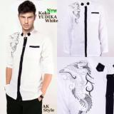 Harga Baju Kemeja Koko Yudika White Putih Murah