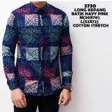 Harga Baju Kemeja Pria Kemeja Batik Gradation Navy Premium Termurah Seken