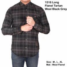 Jual Baju Kemeja Pria Lengan Panjang Flanel Kotak Kemeja Flannel Unisex Online
