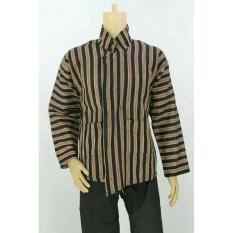 Baju / Kemeja Surjan Setelan Dewasa/Lurik/Batik Jawa Pakaian Adat Jawa - Sxoktk