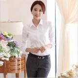 Baju Kemeja Wanita Warna Putih Polos Lengan Panjang Kasual Modern | Lazada Indonesia
