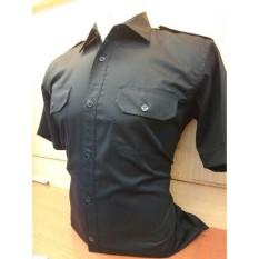 Baju Kerja/ Seragam/ Kemeja Kerja Putih dan Hitam PNS- Honorer- Security