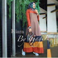 Baju Kiara Dress Baloteli Maxi Modern Cewek Gamis Panjang Hijab Casual Pakaian Wanita Murah