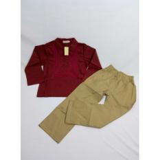 Baju Koko Anak: L N 85-07 Koko Wine Red (1-6 Tahun), baju koko modern