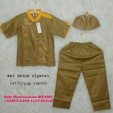 Baju Koko Anak Laki-Laki Bahan Katun Sigaret Size 4 Ld 70 Cm Pjg Celana 65 Cm