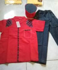 Baju Koko Anak Merk Cutetrik 3-6th Merah