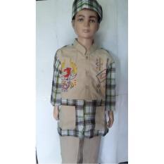 Baju Koko Anak Muslim Kain Katun Murni
