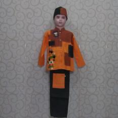 Baju Koko Anak Premium ST13 - Orange