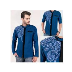 Baju Koko Bordir Pasha Royal Blue