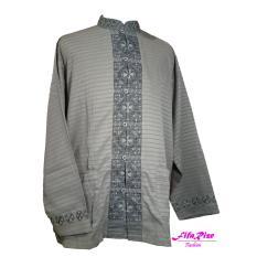 Baju Koko Dewasa - Lengan Panjang - Satin - Bordir