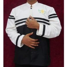 Baju Koko Elegan Bordir Nahdatul Ulama - Putih