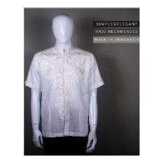 Baju koko gaul lengan pendek warna putih full bordir harga grosir 001