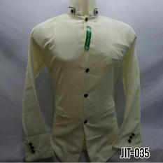 Baju Koko Kemeja Koko Jasko Jas Koko Polos Cream Lengan Panjang JIT035