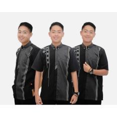 Baju Koko Modern Simpel Berkualitas - Hitam Elegan