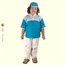 Baju Koko Panjang Anak Laki-Laki Umur 4 - 8 Tahun CSG 250-535 Toska