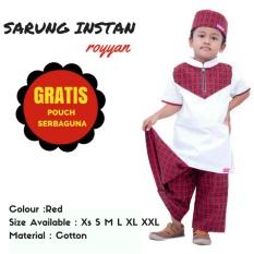 Cuci Gudang Baju Koko Sarung Anak Ukhuwah Merah