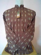 Baju Koko Tangan Panjang Merk Burdah Motif Songket Import