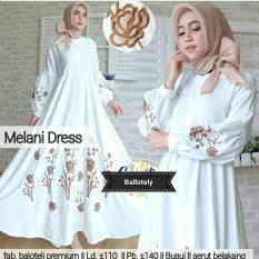 Baju Melani Dress Baloteli Maxi Modern Cewek Gamis Panjang Hijab Casual Pakaian Wanita Murah