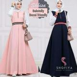 Jual Baju Menyusui Gamis Busui Long Dress Hijab Murah Shisa Dress Ori