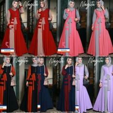 Baju Menyusui Murah / Dress Hijab Busui / Grosir Gamis : Nagita Dress