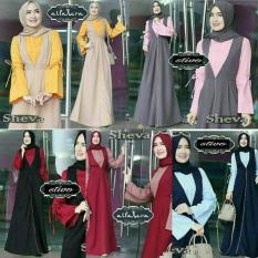 Baju Menyusui Murah / Gamis Busui / Grosir Hijab Terbaru : Sheva Dress