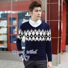 Baju Murah Sweater Rajut Pria RAMZI TRIBAL Premium