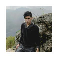 Baju Murah Sweater Rajut Pria Sweater Rajut Pria Greenlight Hitam Premium