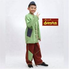 Baju muslim anak dannis hijau no.5