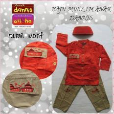 Baju Muslim Anak No.5 Dannis Orange