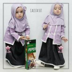 Baju Muslim Anak Terbaru  Setelan Baju Bayi Perempuan Usia/Umur 1-2Th