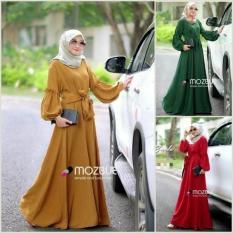 Baju Muslim Brendra Dress Gamis Panjang Hijab Casual Pakaian Wanita Hijab Modern
