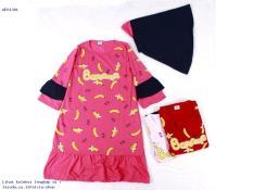 Baju Muslim Gamis Banana Anak Perempuan Murah 1381 - AFK916293409